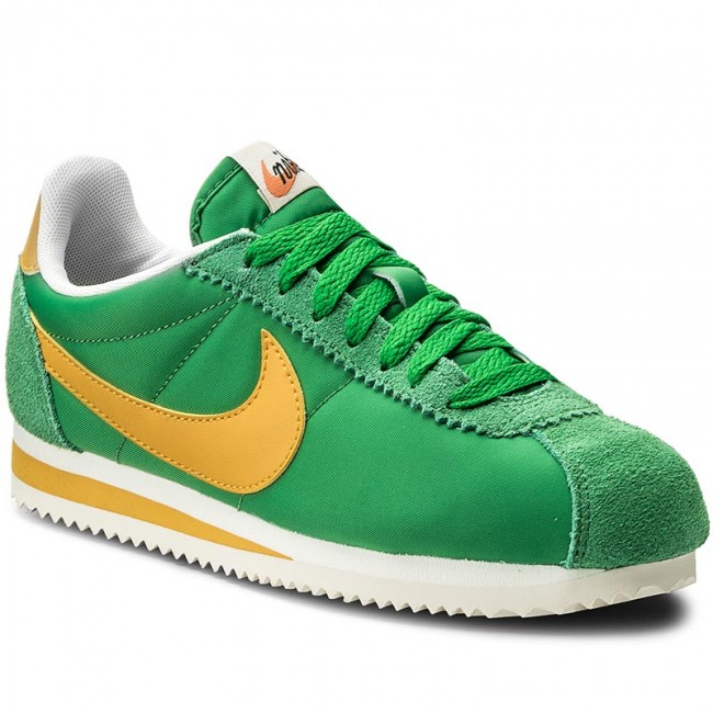 Shoes NIKE - Wmns Classic Cortez Nylon Prem 882258 301 Classic Green/Yellow  Ochre