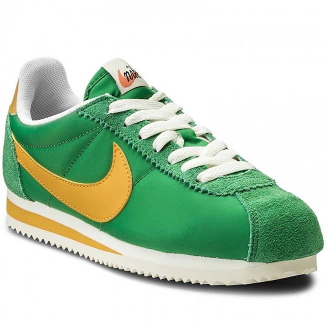 best service 5cb0e d39a8 Shoes NIKE - Wmns Classic Cortez Nylon Prem 882258 301 Classic Green Yellow  Ochre