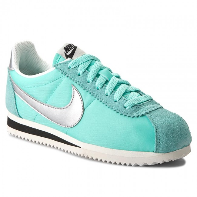 Shoes NIKE - Wmns Classic Cortez Nylon Prem 882258 300 Tropical Twist/Metallic  Silver