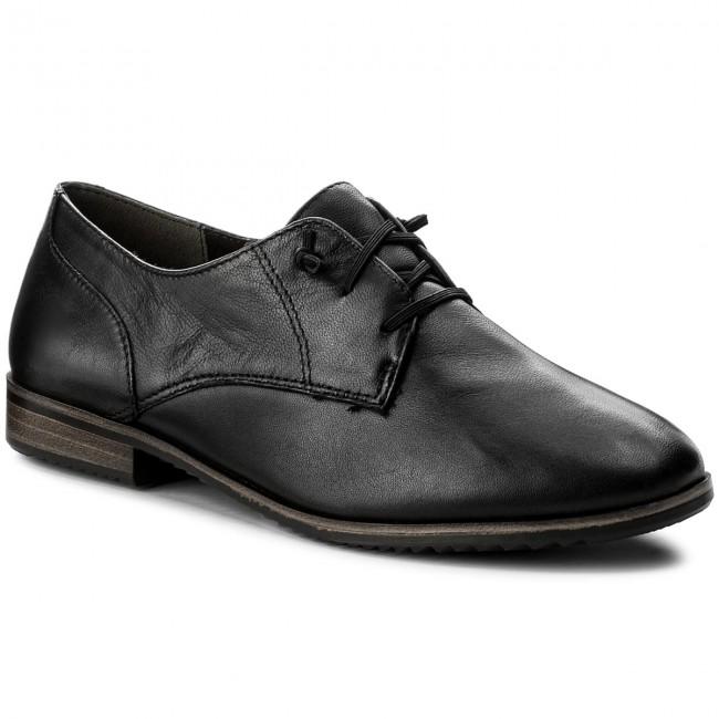 Oxfords TAMARIS - 1-23204-20 Black Leather 003 HPQwMY
