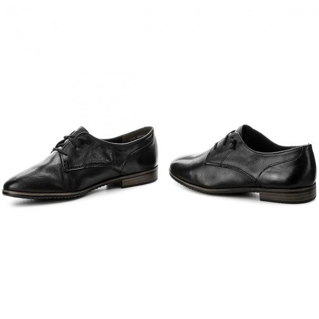 Oxfords TAMARIS - 1-23204-20 Black Leather 003 DTu7F