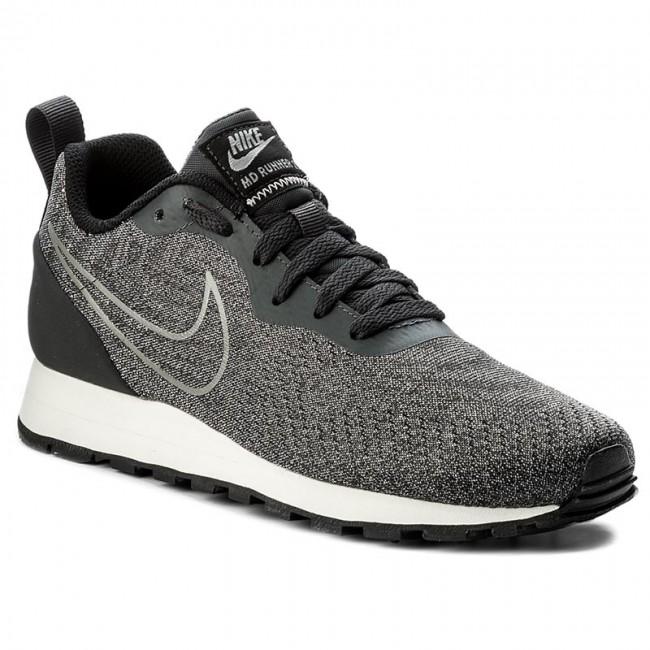 Nike SportswearMD RUNNER 2 ENG MESH - Trainers - black/dark grey Q7b5jO