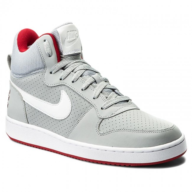 fa9acb0c568c Shoes NIKE - Court Borough Mid 838938 002 Wolf Grey White Gym Red ...