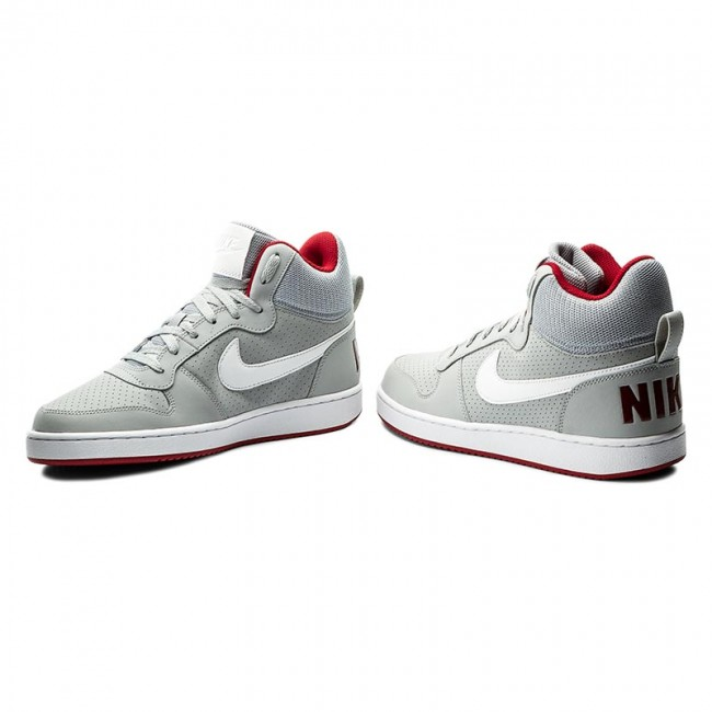 98d2712324389f Shoes NIKE - Court Borough Mid 838938 002 Wolf Grey White Gym Red ...