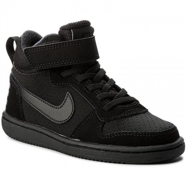 brand new 6508d 78214 Shoes NIKE - Court Borough Mid (PSV) 870026 001 Black Black