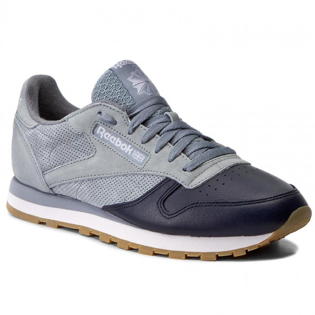 Shoes Reebok - Cl Leather Ls BD6078 Meteor Grey/Cllg Navy