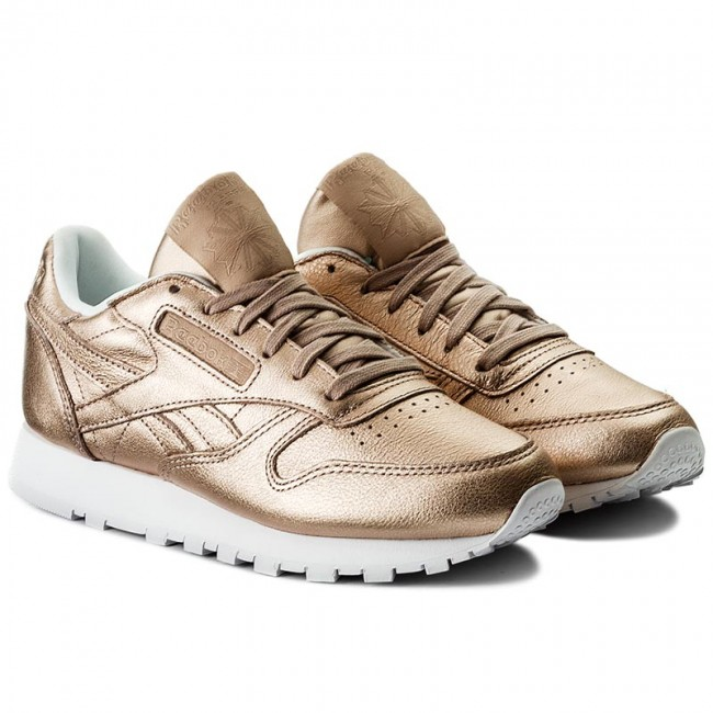 Shoes Reebok Cl Lthr Melted Metal BS7897 Pearl MetPeach