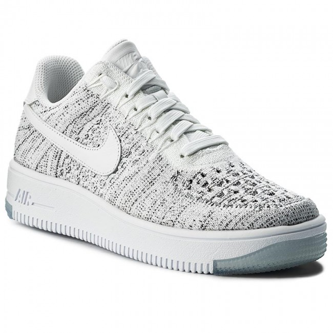 dc3726a1575a36 Shoes NIKE - Af1 Flyknit Low 820256 103 White White Black - Sneakers ...