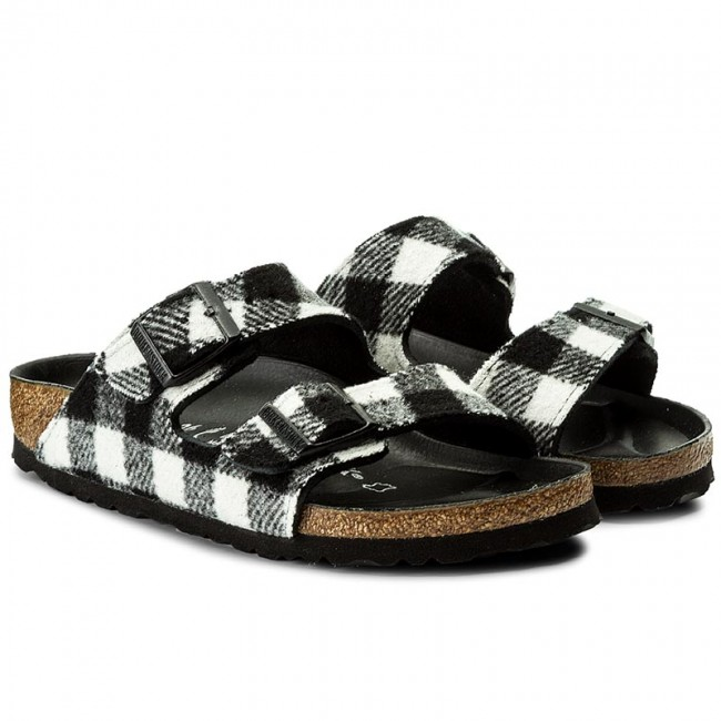 ccda21579c6f Slides BIRKENSTOCK - Arizona 1001217 Check Black White - Casual mules -  Mules - Mules and sandals - Women s shoes - www.efootwear.eu