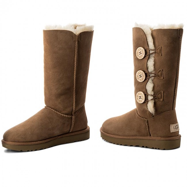 17e7e301ab16f Shoes UGG - W Bailey Button Triplet II 1016227 W Che - UGG - High ...