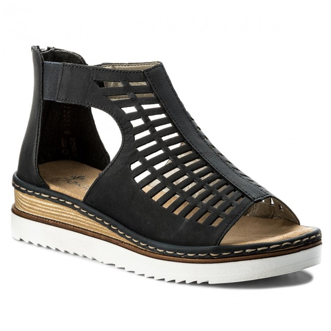 Sandals RIEKER - 679F5-14 Blue - Casual sandals - Sandals - Mules ... 65f770010f