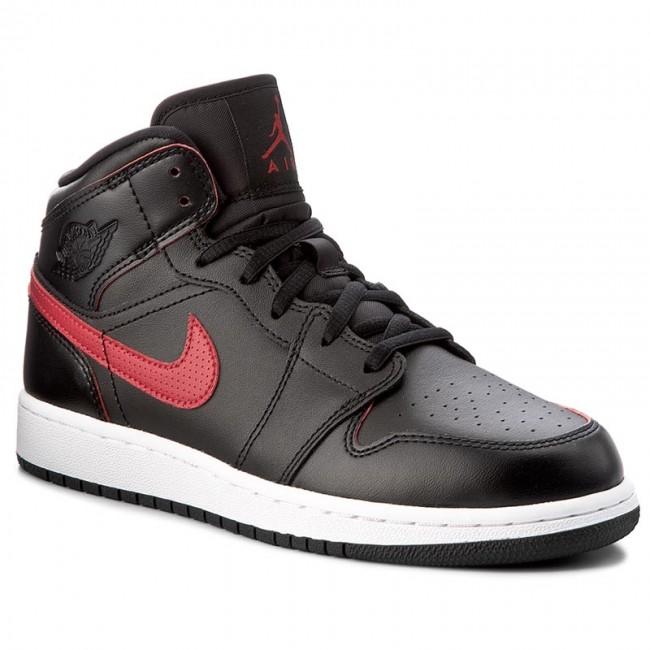 d93058f15c4 Shoes NIKE - Air Jordan 1 Mid Bg 554725 009 Black Gym Red Gym Red ...