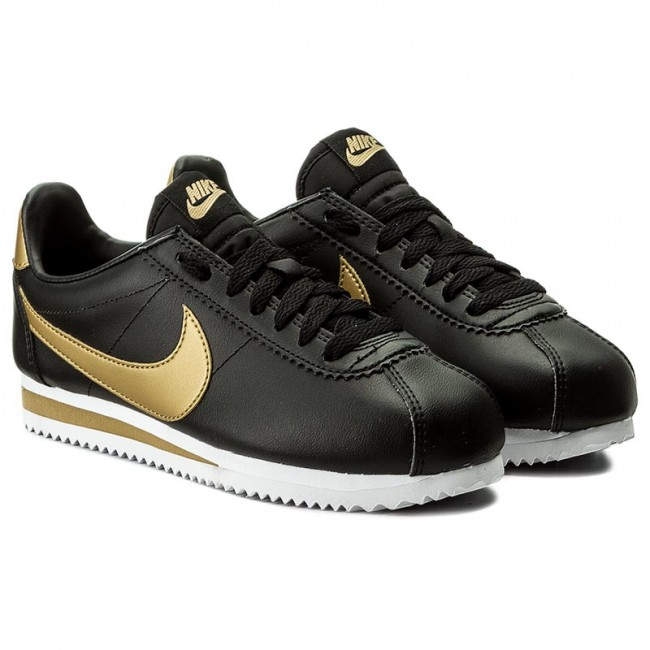 b4a2b1ac14 Shoes NIKE - Classic Cortez Leather 807471 008 Black/Metallic Gold -  Sneakers - Low shoes - Women's shoes - www.efootwear.eu