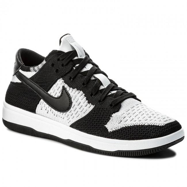 a9177db88bd Shoes NIKE - Dunk Flyknit 917746 100 White Black Wolf Grey ...