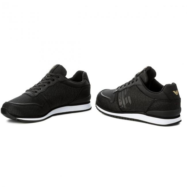 dd120157f19ca7 Sneakers EMPORIO ARMANI - X4X223 XL201 A792 Black Black Black
