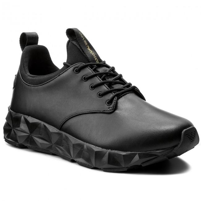64178afd781bed Sneakers EMPORIO ARMANI - X4X193 XL191 A792 Black Black Black
