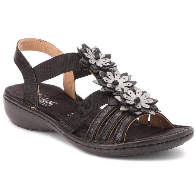 Mules Schwarz 00 Casual Rieker Sandals 60858 QdhrCts