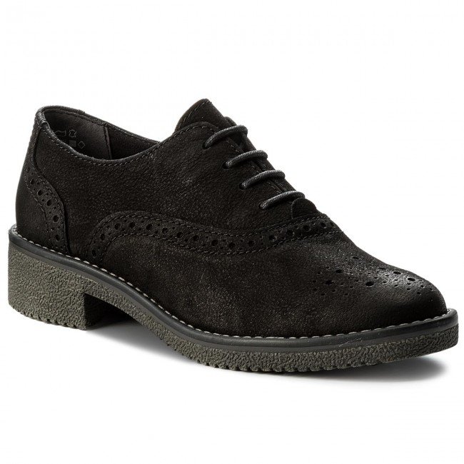 Oxfords MARCO TOZZI - 2-23721-29 Black Antic 002 - Oxfords - Low ... c5d57cc6f7