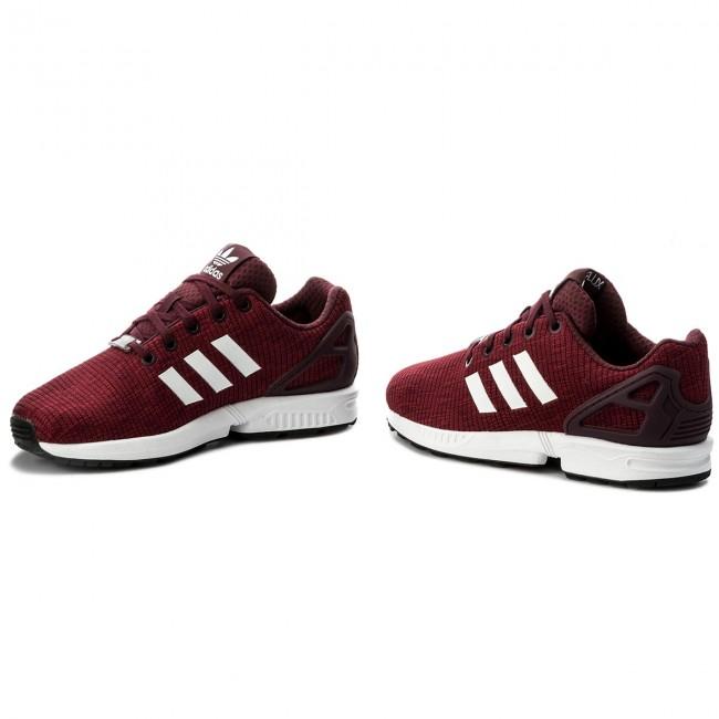 8c1bc13c3 Shoes adidas - ZX Flux J CM8136 Maroon Ftwwht Ftwwht - Sneakers ...