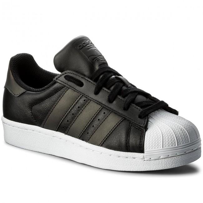 schuhe adidas superstar j cq2688 cblack / cblack / ftwwht turnschuhe