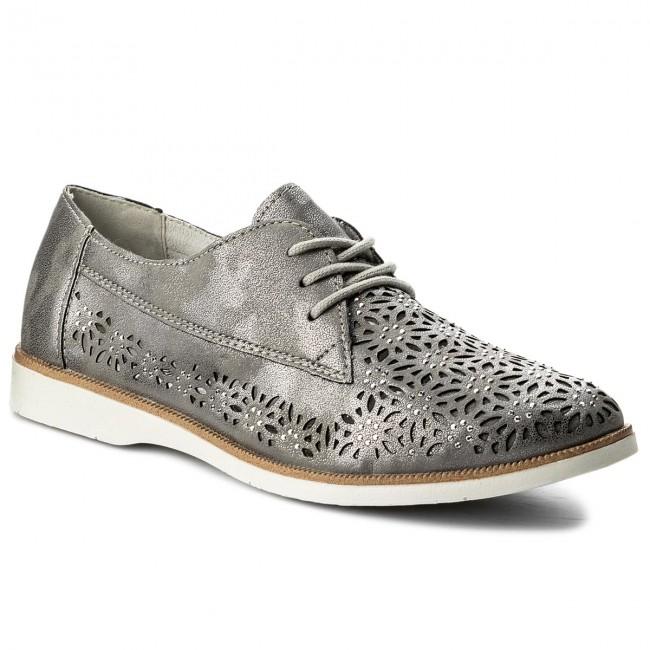 2f8abdf6e56a2e Shoes REMONTE BY RIEKER - R0404-42 Grey Combination - Flats - Low ...