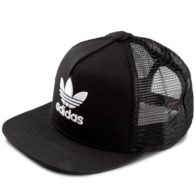 Cap adidas - Trefoil Trucker BK7308 Black White - Women s - Hats ... dbd979e68fb