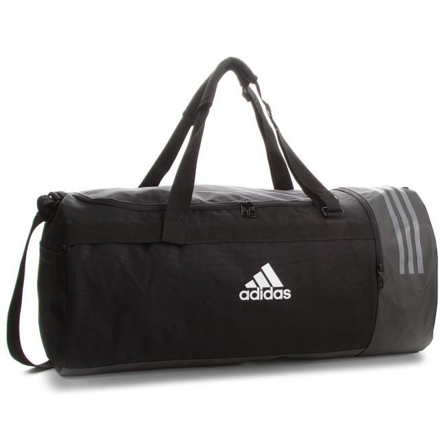 0bb12cd58a04 Bag adidas - 3S CVRT DUF L CG1534 Black/White/White - Sports bags ...