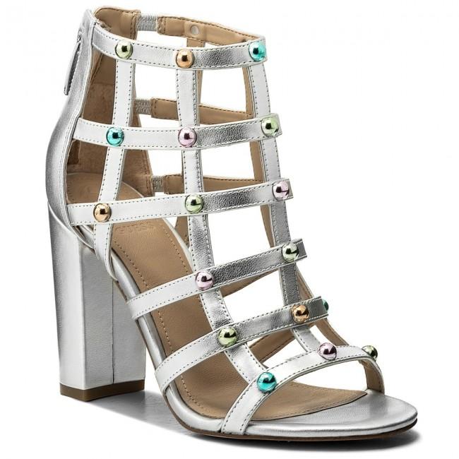 b21aa041040 Sandals GUESS - Ackley FLACK1 ELE09 SILVE - Casual sandals - Sandals ...