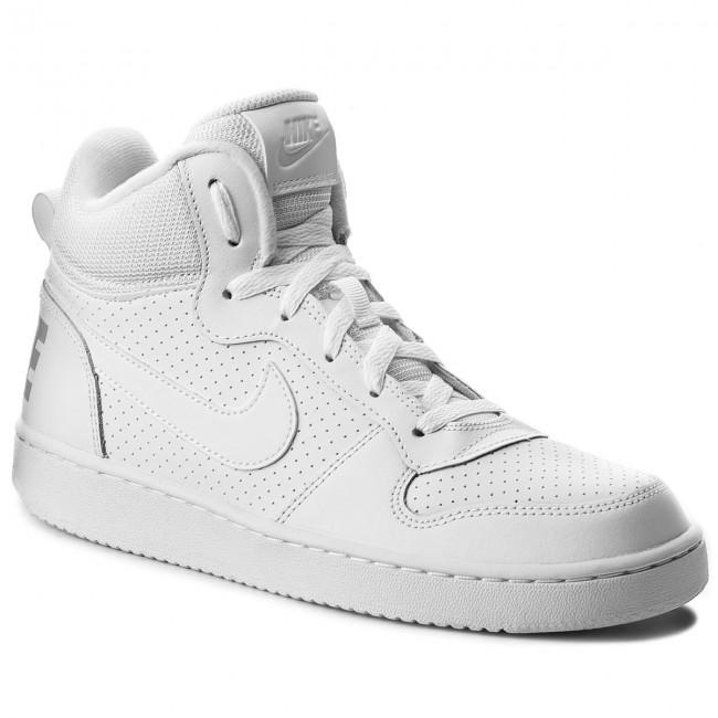 91df2ec8fb2ae Shoes NIKE - Court Borough Mid (GS) 839977 100 White White White ...