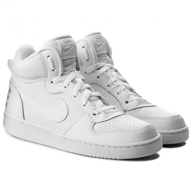 Shoes NIKE Court Borough Mid (GS) 839977 100 WhiteWhiteWhite