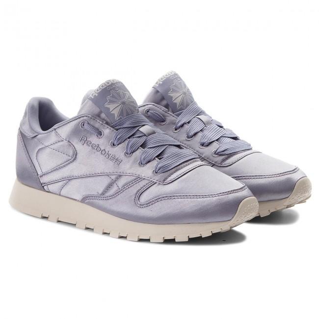 Shoes Reebok Cl Lthr Satin CM9801 Purple FogClassic Wht