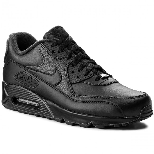 Shoes NIKE - Air Max 90 Leather 302519 001 Black Black - Sneakers ... ced8f8c3f19b