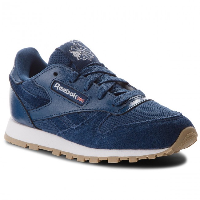 Shoes Leather Washed Cl Laced Bluewhite Estl Reebok Cn1136 IEH9WDY2