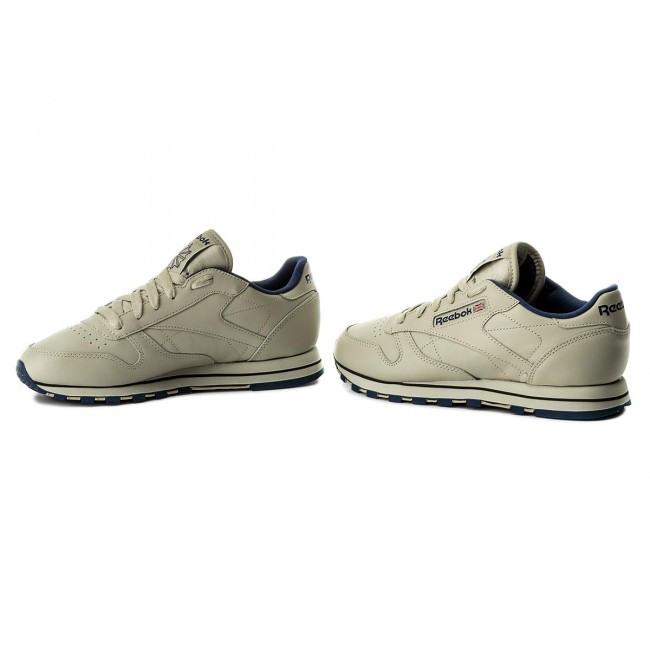 c59c837ab07ba Shoes Reebok - Cl Lthr 28412 Ecru Navy - Sneakers - Low shoes ...