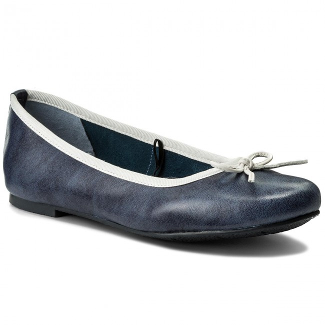 Flats MARCO TOZZI - 2-22117-20 Navy White 886 - Ballerina shoes ... 59db18bf0f
