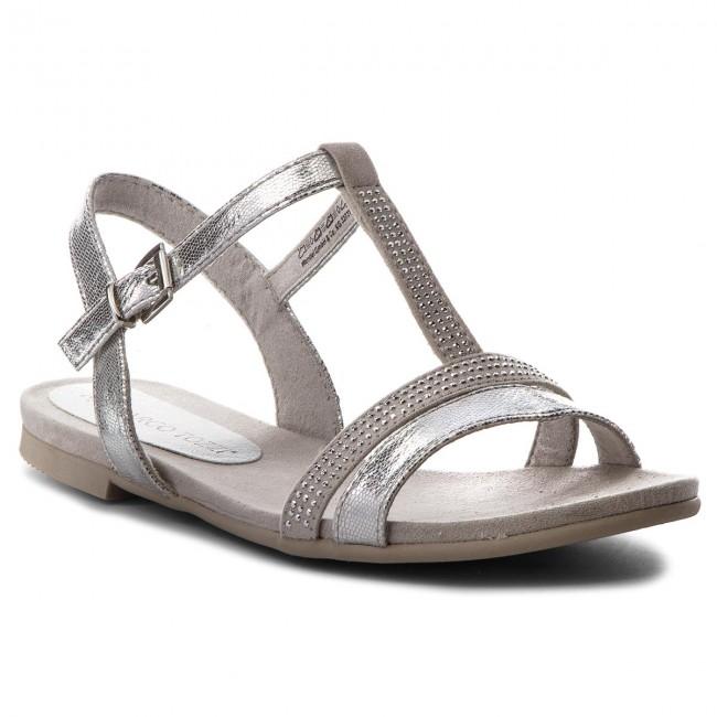 Sandals MARCO TOZZI - 2-28124-20 Silver Met.Com 939 - Casual sandals ... 866b78d582