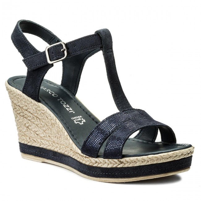 Sandals MARCO TOZZI - 2-28340-20 Navy Comb 890 - Casual sandals ... 4c4e265e40
