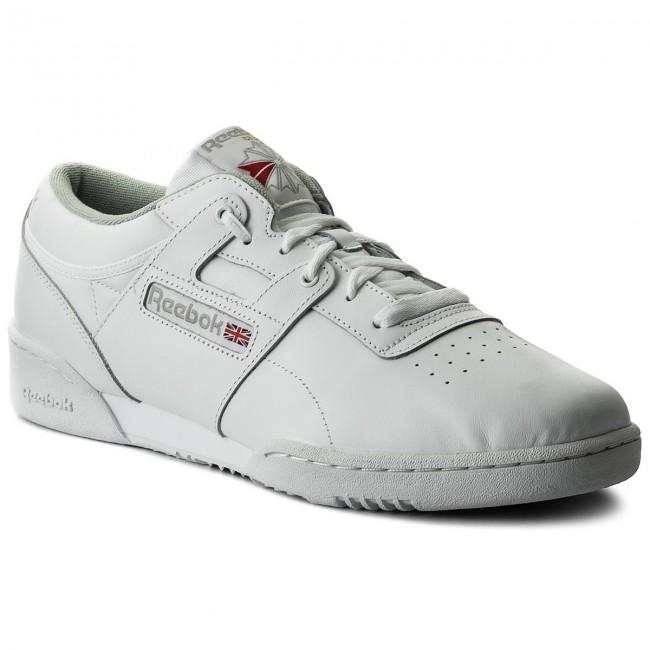 b3b9fc59df0eb Shoes Reebok - Workout Low CN0636 Int White Grey - Sneakers - Low ...