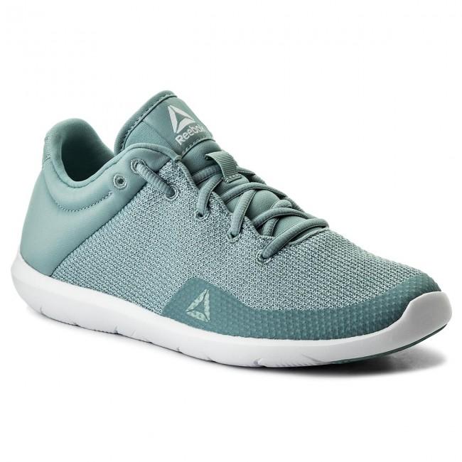 Shoes Reebok - Studio Basics CN0727 Whisper Teal White - Fitness ... b00e28165