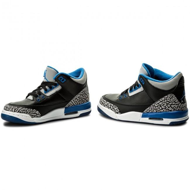175ff956986cc7 Shoes NIKE - Air Jordan 3 Retro BG 398614 007 Black Sport Blue Wolf ...