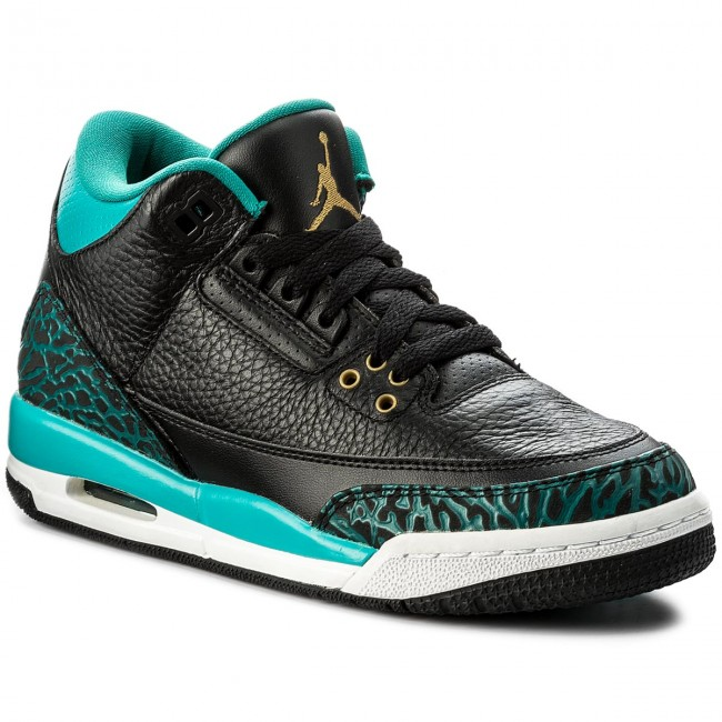 innovative design 43847 788bd Shoes NIKE. Air Jordan 3 Rettro GG 441140 018 Black Metallic Gold Rio Teal