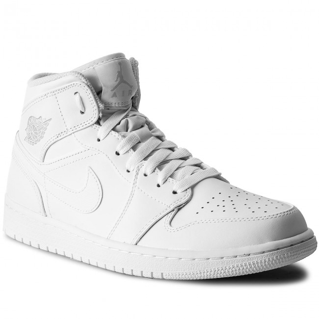 fc43a1ad609e Shoes NIKE - Air Jordan 1 Mid 554724 104 White Pure Platinum White ...