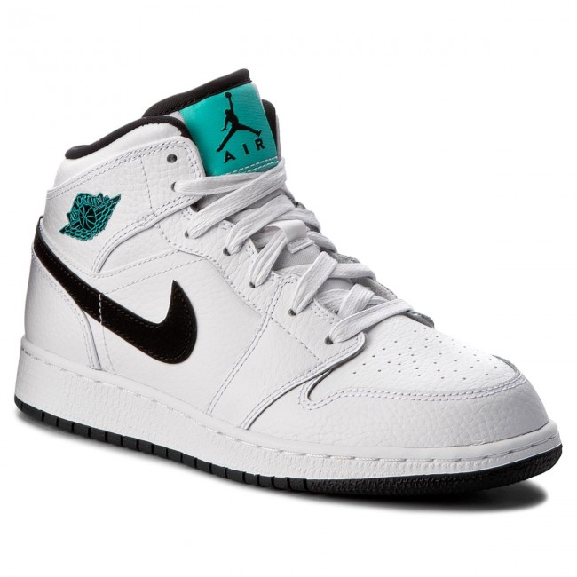 new product daf19 8a7ee Shoes NIKE - Air Jordan 1 Mid Bg 554725 122 White/Black/White/Hyper ...