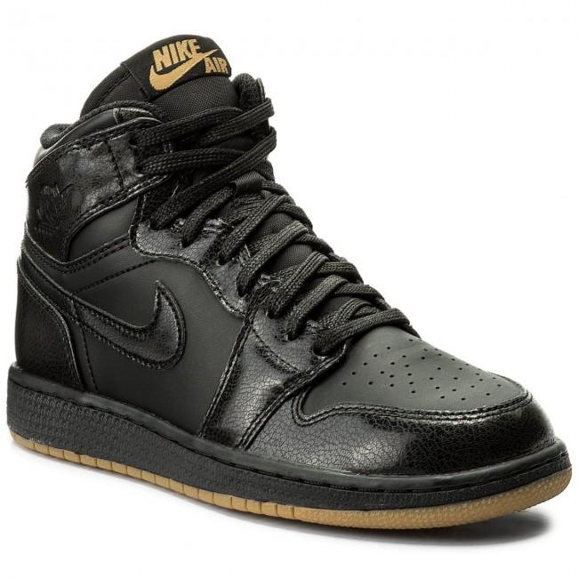 60b48d0246eff2 Shoes NIKE. Air Jordan 1 Retro High Og Bg 575441 020 Black Black Gum Light  Brown