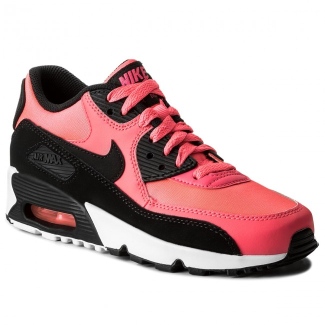 le scarpe nike air max 90 maglie (gs) 833340 600 racer rosa / nero / bianco