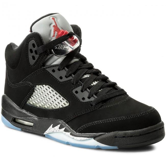 le scarpe nike air jordan 6 retrò og bg 845036 003 nero / rosso fuoco