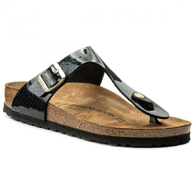 f61d8a320f07 Slides BIRKENSTOCK - Gizeh Bs 1009114 Magic Snake Black - Flip-flops ...