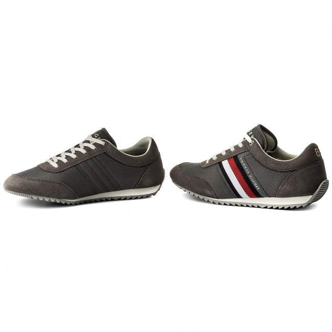 ae001ee1 Sneakers TOMMY HILFIGER - Corporate Material Mix Runner FM0FM01314 Steel  Grey 039