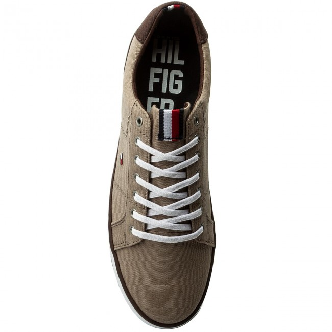 f6415b6e2583 Plimsolls TOMMY HILFIGER - Iconic Long Lace Sneaker FM0FM01536 Cobblestone  068 - Plimsolls - Low shoes - Men s shoes - www.efootwear.eu