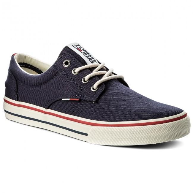 c08c85c009eb27 Plimsolls TOMMY JEANS - Textile Sneaker EM0EM00001 Ink 006 ...